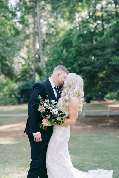 Film-inspired wedding photography at Aldridge Gardens in Birmingham, AL