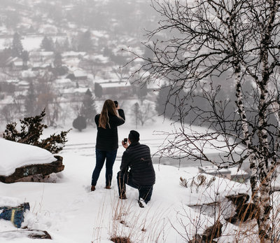 new york intimate proposal and wedding