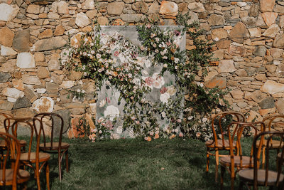 Dover Hall Custom Painted Wedding Backdrop