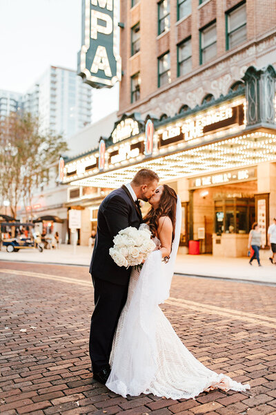 tampa theater bride and groom