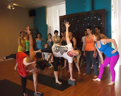 Teaching yoga class  - Soma Yoga Institute