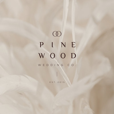 Branding for Pinewood Wedding Co., a high end wedding designer.