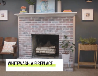 lowes how to whitewash a fireplace