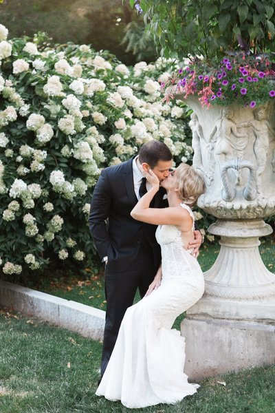 Romantic wedding at The Wadsworth Mansion
