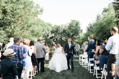 The perfect summer outdoor wedding on the terrace of Graydon Hall