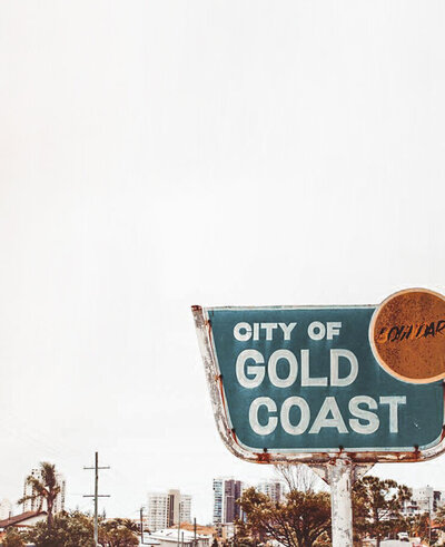 City of Gold Coast - old school border sign