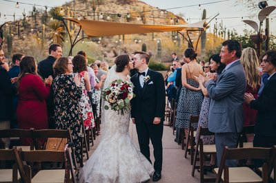 Couple gets married at the Desert Botanical Garden
