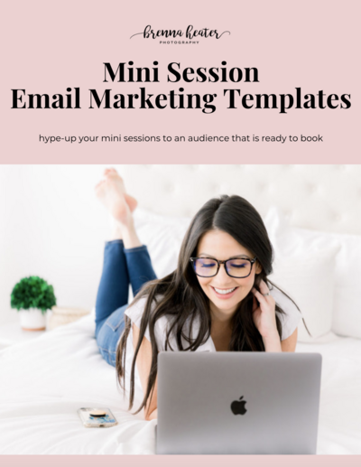 email marketing templates mini sessions