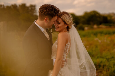 Couple at Wharfedale Grange, luxury barn wedding venue, yorkshire