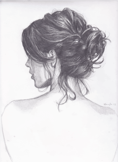 Wedding Hair Bun Sketch