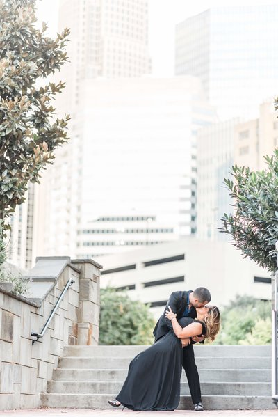 Romare Bearden Park Charlotte NC engagement photography