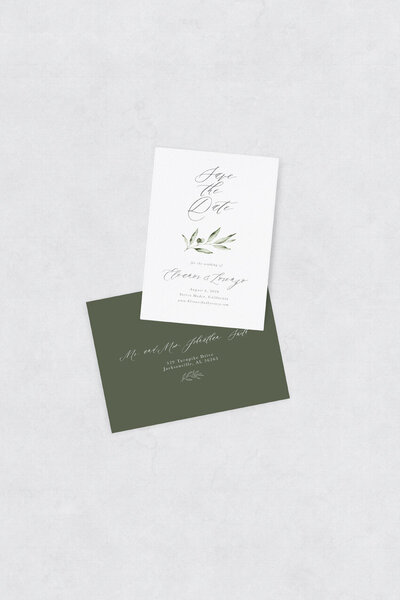 pirouettepaper.com | Wedding Stationery, Signage and Invitations | Pirouette Paper Company | Semi Custom Invitations | The Olive  12