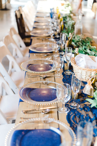 Navy and gold wedding northfork estates eaton rapids michigan