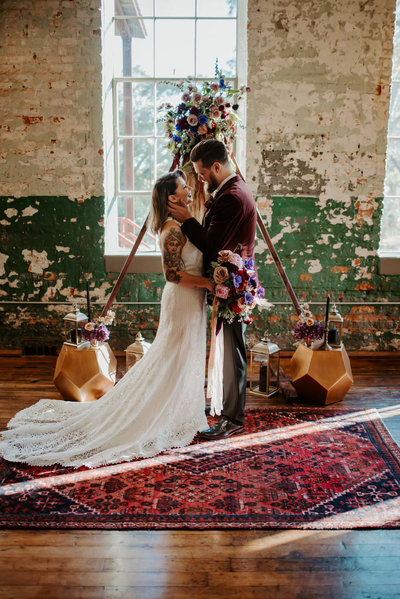 Fun Bohemian wedding