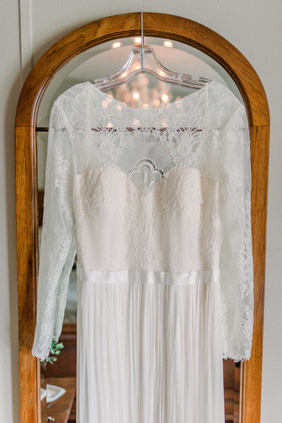 The bride's dress captured by Staci Addison Photography