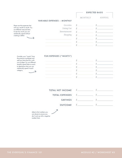 The Everygirl's Budget Worksheet (Module 002, Worksheet #3)_Page_2