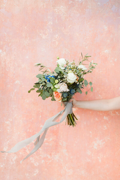 Bridal bouquet at Positano, Italy Wedding. Wedding photo taken by Cheers Babe Photo.