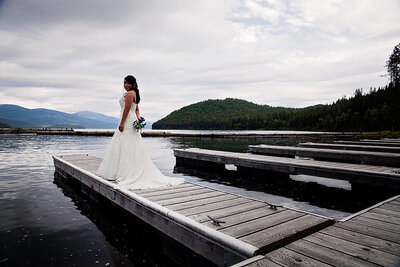 Wedding Photographer for Elkins Resort on Priest Lake