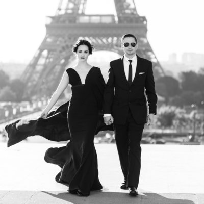 Paris wedding photographer, Paris elopement photographer, Paris pre wedding photographer, Paris portraits, Wedding in Paris, black wedding dress, Eiffel Tower portraits, France wedding photography, Paris fashion photographer, fashion wedding photographer, Luxury wedding paris,