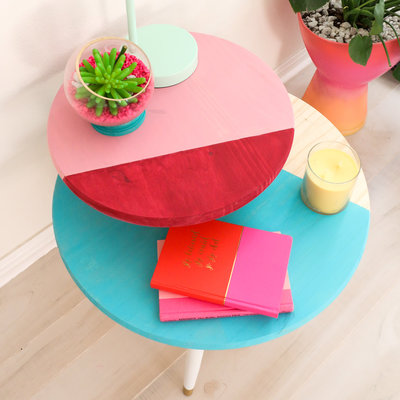 colorblocked table