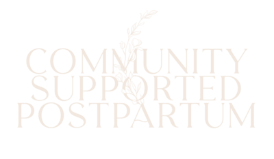 Community Supported Postpartum Submark Logo