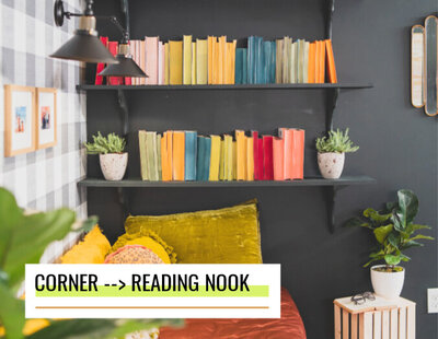 reading nook makeover