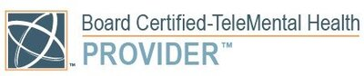 Center for Credentialing and Education Board Certified TeleMental Health Provider LOGO