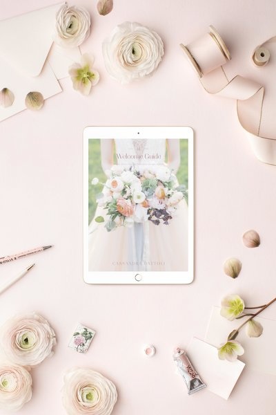 Cassandra Dattoli Welcome Guide Mockup - iPad