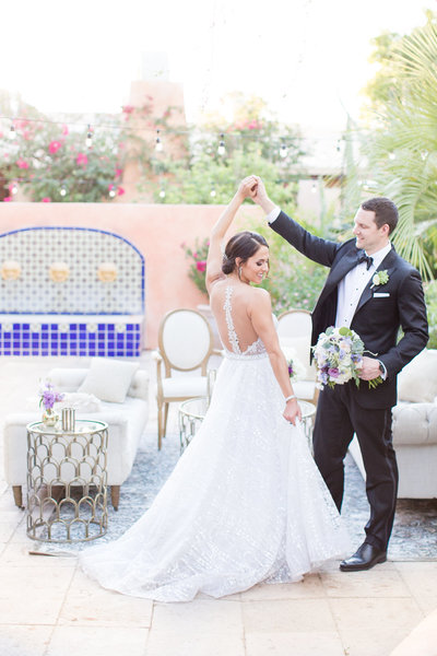 Lavender Garden Royal Palms Paradise Valley, Arizona | Amy & Jordan Photography