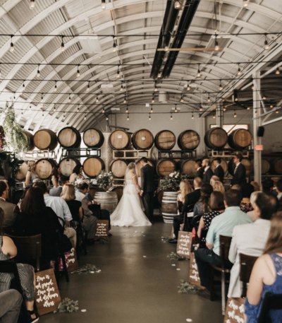 ceremony at winery