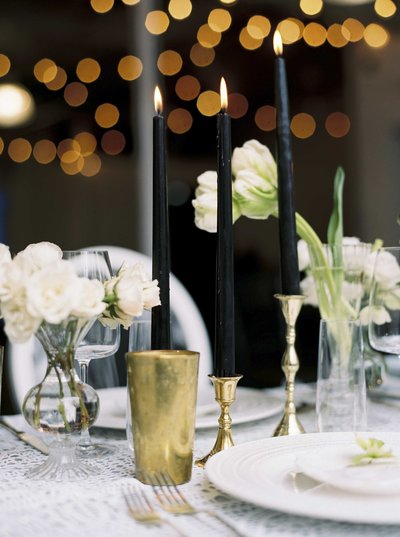 New England Industrial Wedding Table Design