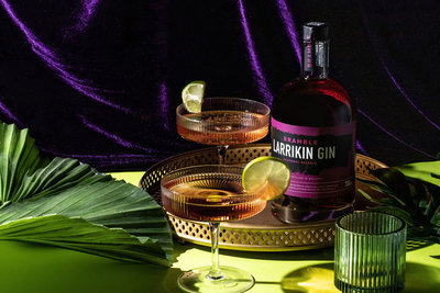 Alcoholic drinks photography for australian gin brand kilderkin stylist ballarat