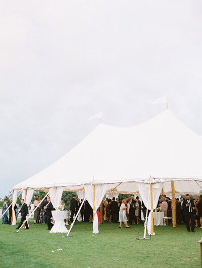 event tent at newport castle hill inn