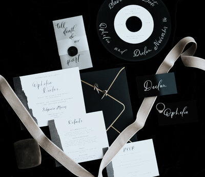Dark and Moody Wedding Invitation