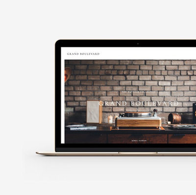 Buffalo Collective Website design for Showit