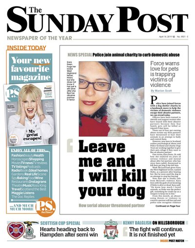 The Sunday Post press coverage Puja McClymont