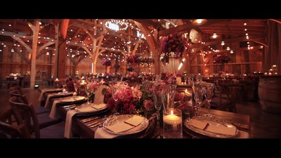 wedding barn floral design