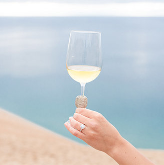wine at sleeping bear dunes