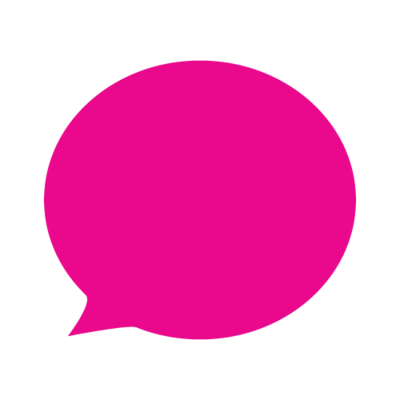 Pink Speech Bubble-01