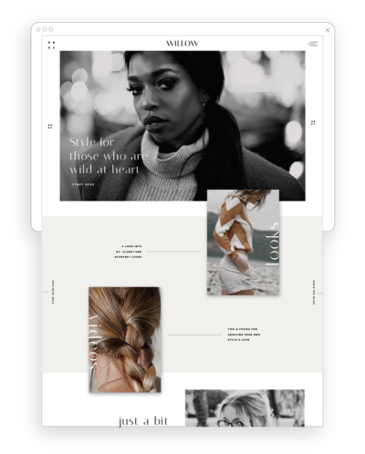 Fashion and Lifestyle Blog Templates for Showit