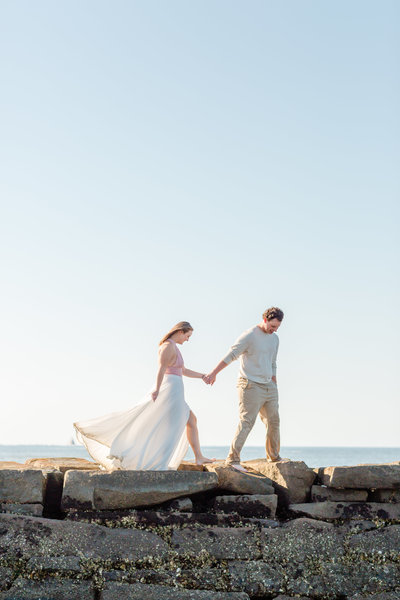 romantic engagement session on isle of palms