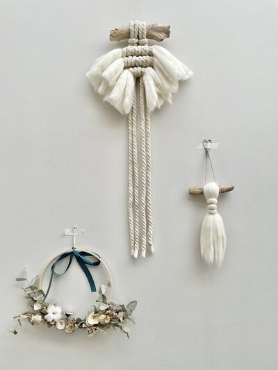 Styled Chunky macrame wall hanging by Isabella Strambio