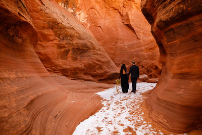 This couple hiked to their elopement location at Lake Tahoe.