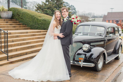Happy bride and groom, A Louisville, Mississippi Wedding At First Baptist Church & Market Cafe