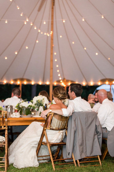 Wedding Reception under the tent