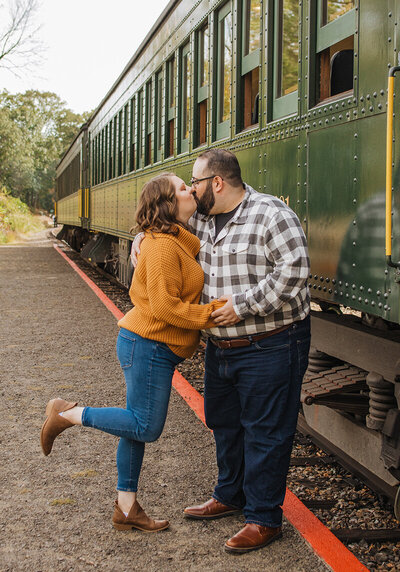 Essex Steam Train Engagement Photos