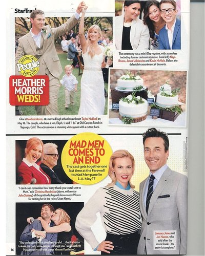 People Magazine Heather Morris Wedding Feature | Amy & Jordan Photography