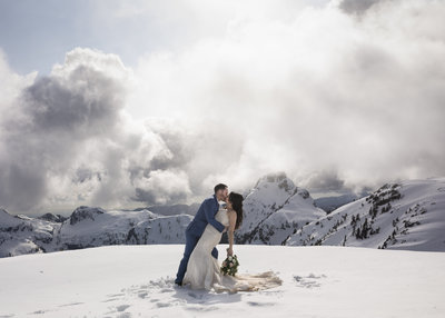 Fraser Valley Mountain Helicopter Wedding