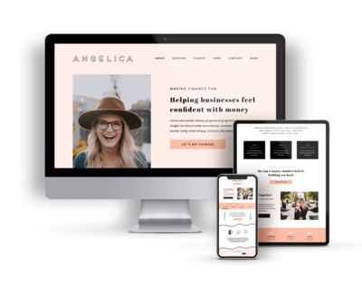 Angelica is a Showit Website Template