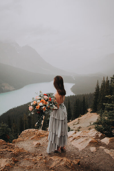 Peyto Lake Adventure Elopement Photographer-14